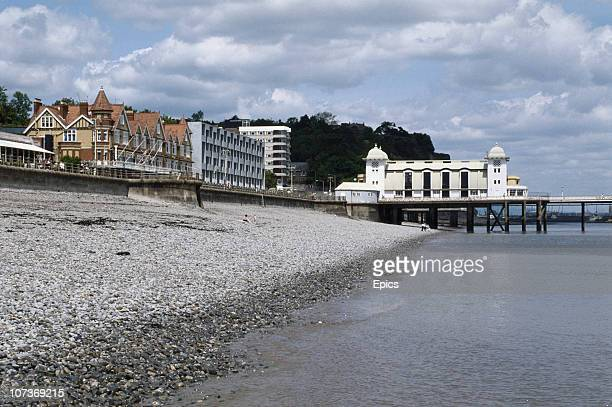 Penarth Pier on Penarth seafront in the Vale of Glamorgan Wales circa 1985