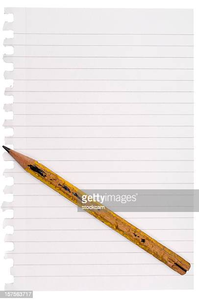 Bleistift und leere Papier