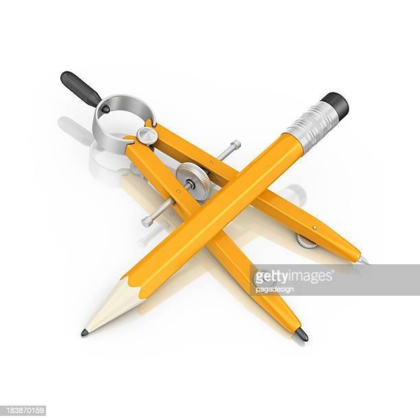 Bleistift und Zirkel