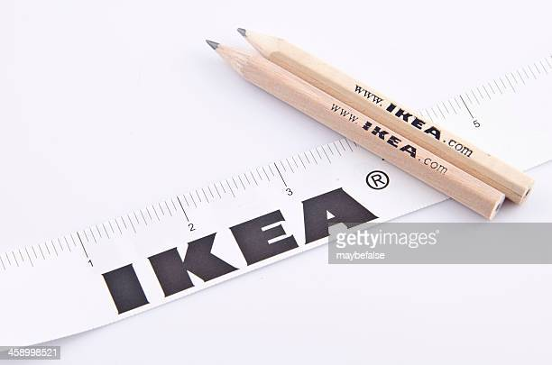 Bleistift und Lineal von IKEA