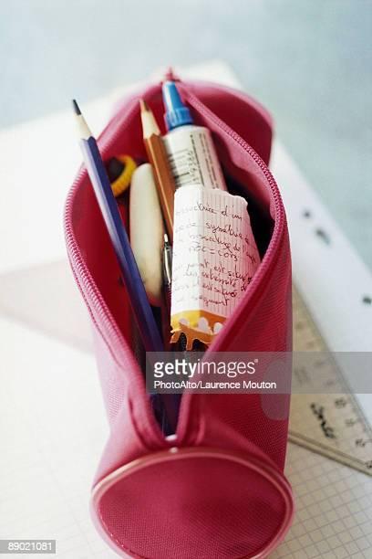 pencil case - pencil case stock photos and pictures