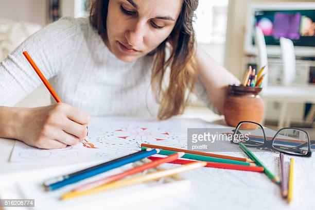 Lápis de coloração