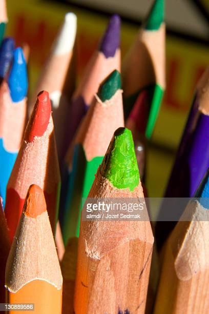 pencil crayons, colouring pencils - colouring bildbanksfoton och bilder