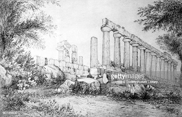 Pencil drawing made by Sir John Herschel in 1824 at the 'Temple of Juno' at Girgenti in Sicily The son of William Herschel the famous astronomer John...