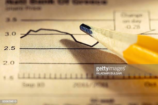 Pencil on graph
