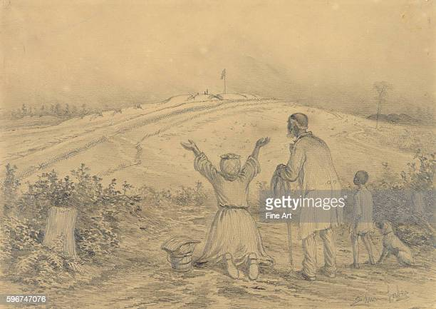 1876 Pencil on paper An AfricanAmerican family escaping from slavery rejoices at finally finding freedom at the Union line From a set of Civil War...
