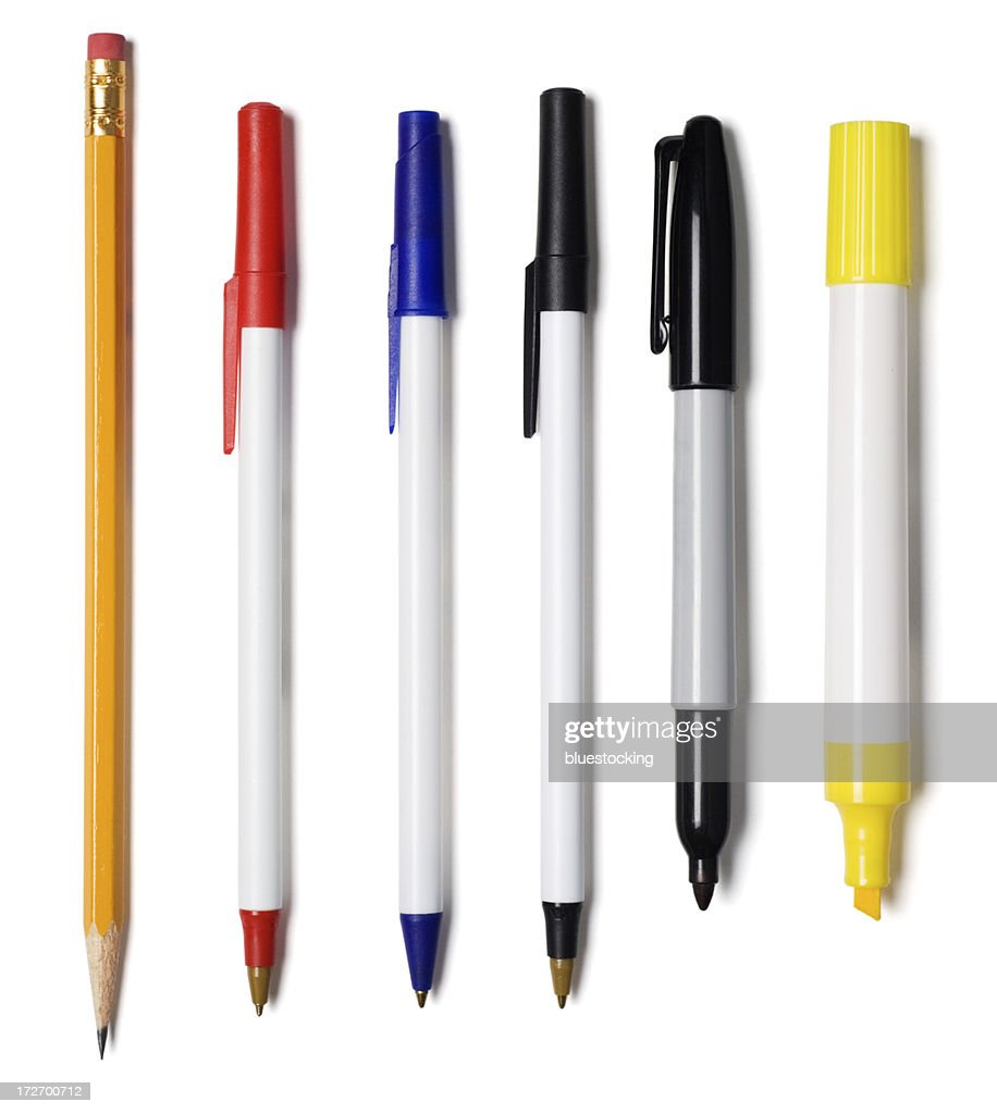 Crayon, des stylos, le marqueur, Surligneur : Photo