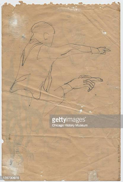 Pencil sketch shows prosecution witness Moses Wright as he points out the accused in the trial of JW Milam and Roy Bryant in the Tallahatchie County...