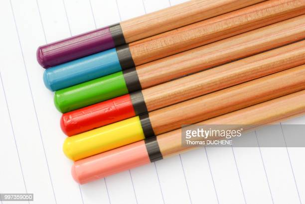 pencils 2 - duchene stock photos and pictures