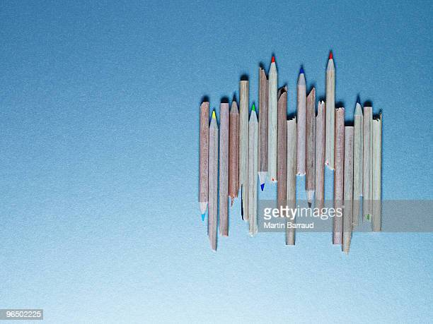 Pencils laying next to each other