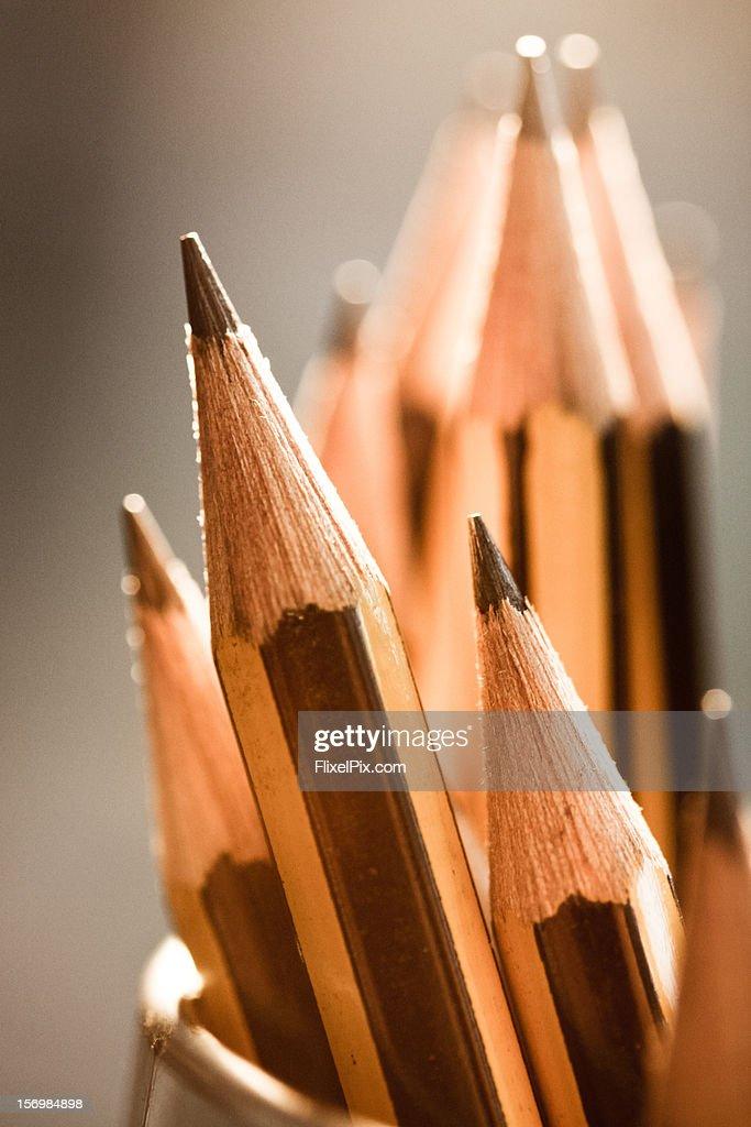 Pencils macro : Bildbanksbilder