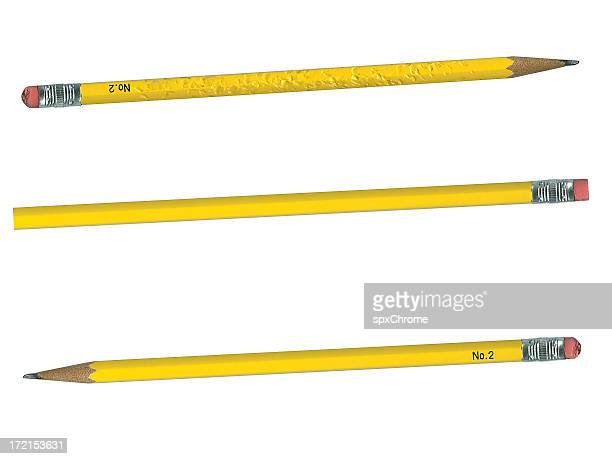 pencils - new, used or chewed - number 2 stock pictures, royalty-free photos & images