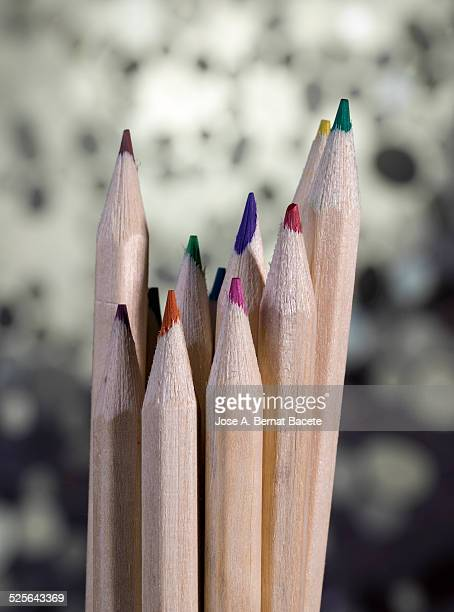 Pencils of colors for painting