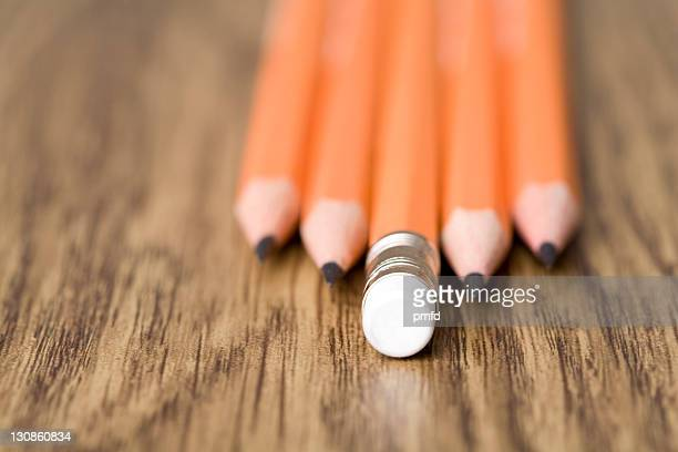 Pencils on a table