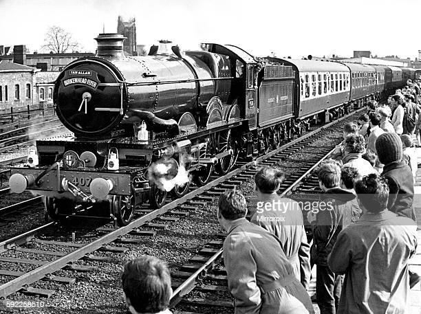 Pendennis Castle resplendent in its original Great Western Railway livery 6th March 1967