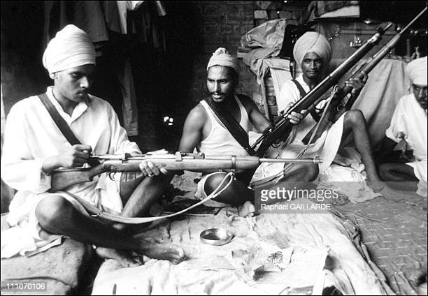 Pendjab in the army against the Sikhs in Amritsar India on June 06 1984