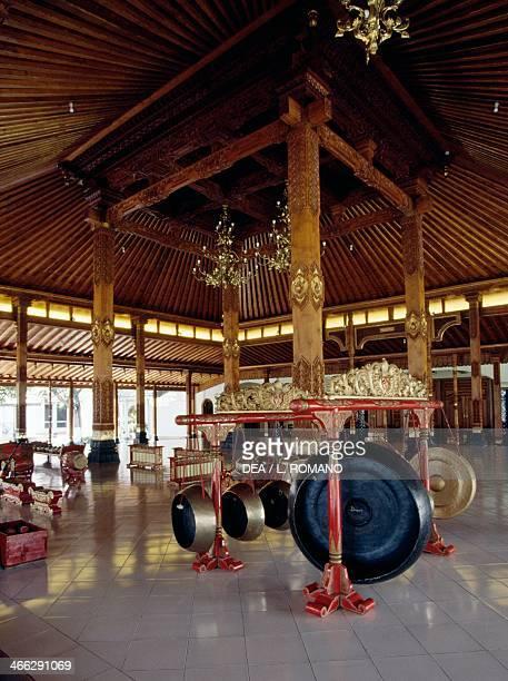 Pendopo with Gamelan instruments Yogyakarta Java Indonesia