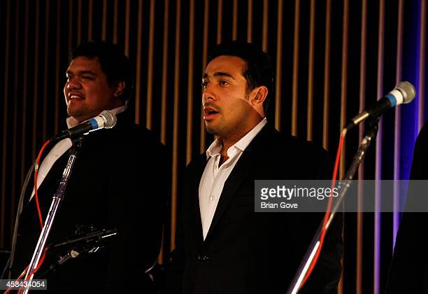 Pene Pati Moses McKay of Sole Mio performing at Capitol Records Studio on November 4 2014 in Hollywood California