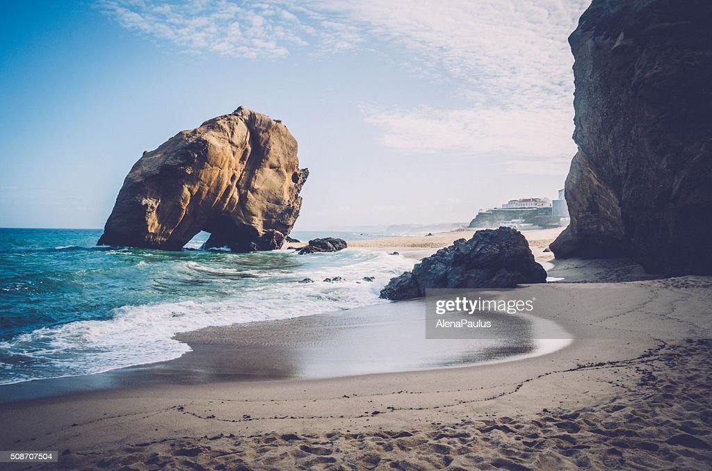 Penedo do Guincho - Santa Cruz Beach Rock : Stock Photo