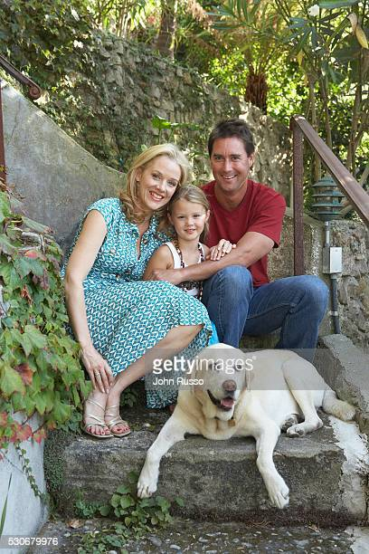 Penelope Ann Miller at Home with Husband James and Daughter