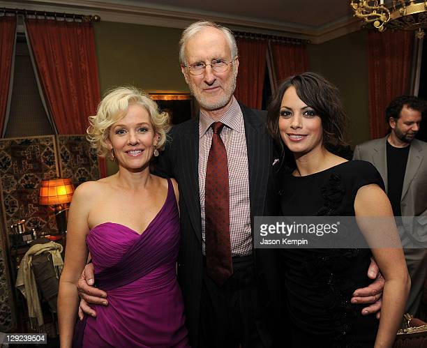 Penelope Ann Miller James Cromwell and Berenice Bejo attend a dinner to celebrate The New York Film Festival Screening Of The Weinstein Company's...