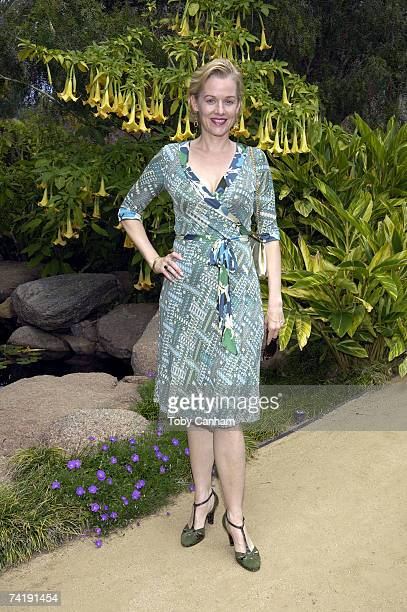Penelope Ann Miller poses for a picture at the C.H.I.P.S annual Spring luncheon featuring the Valentino Fall/Winter 2007 collection held at the home...