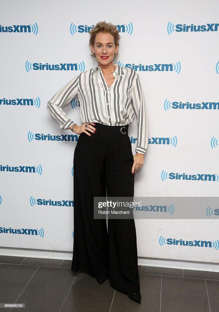 Penelope Ann Miller visits at SiriusXM Studios on April 18, 2017 in New York City.