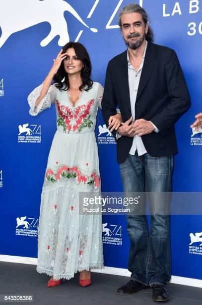 Penelope Cruz and Fernando Leon de Aranoa attend the 'Loving Pablo' photocall during the 74th Venice Film Festival on September 6 2017 in Venice Italy