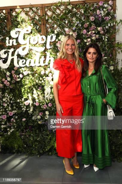 Penelope Cruz and Gwyneth Paltrow at In goop Health London 2019 on June 29, 2019 in London, England.