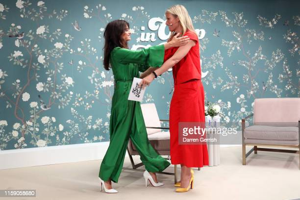 Penelope Cruz and Gwyneth Paltrow on stage at In goop Health London 2019 on June 29, 2019 in London, England.