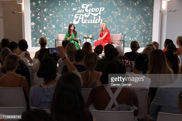 Penelope Cruz and Gwyneth Paltrow on stage at In goop Health London 2019 on June 29 2019 in London England