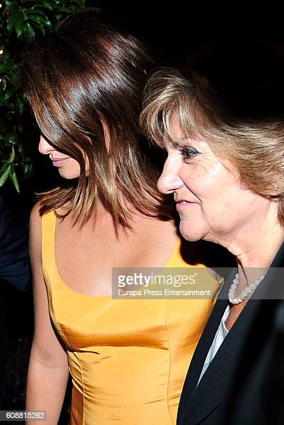 Penelope Cruz and her mother Encarna Sanchez attend the dinner for 'Soy Uno Entre Cien Mil' directed by Penelope Cruz at Ten Con Ten restaurant on...