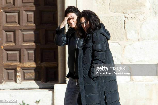 Penelope Cruz and Inma Cuesta are seen during the set filming of 'Todos lo Saben' on November 23 2017 in Madrid Spain