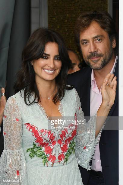 Penelope Cruz and Javier Bardem atten the 'Loving Pablo' photocall during the 74th Venice Film Festival on September 6 2017 in Venice Italy