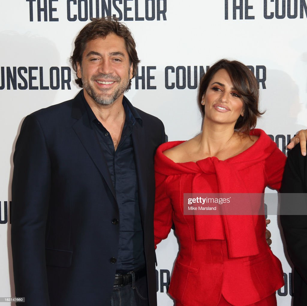Penelope Cruz and Javier Bardem attend a photocall for 'The Counselor' at The Dorchester on October 5, 2013 in London, England.