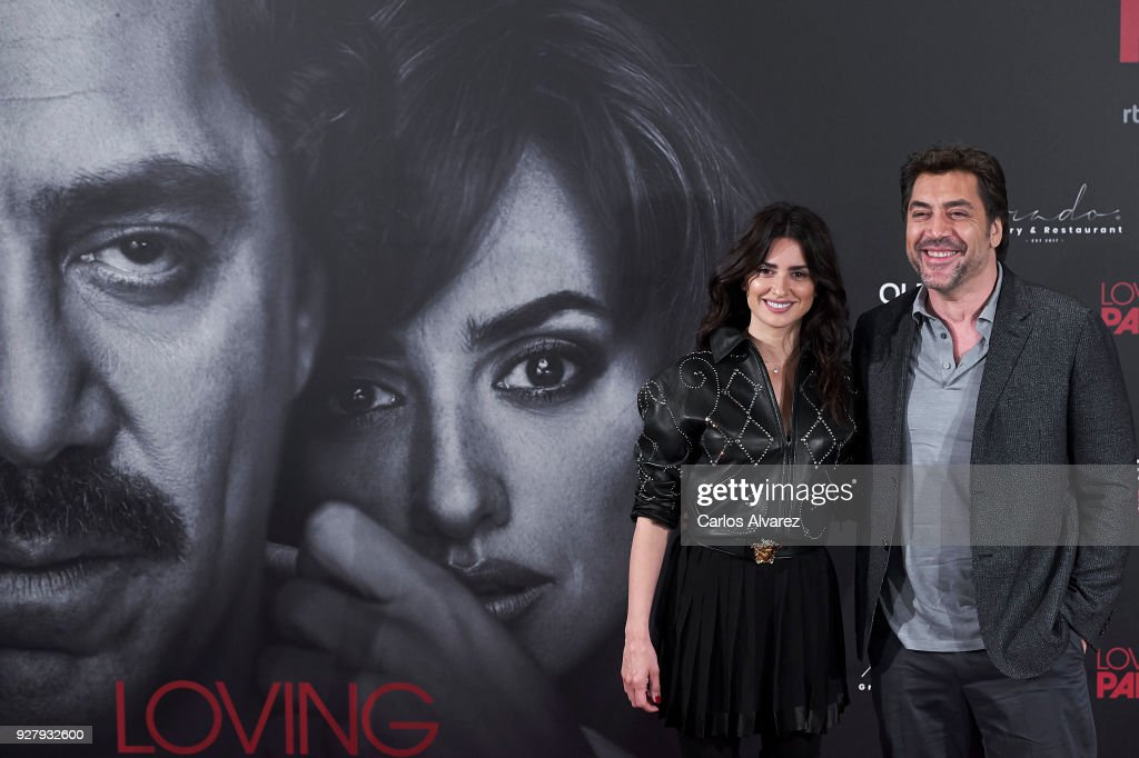 Penelope Cruz and Javier Bardem attend 'Loving Pablo' photocall at Melia Serrano Hotel on March 6, 2018 in Madrid, Spain.