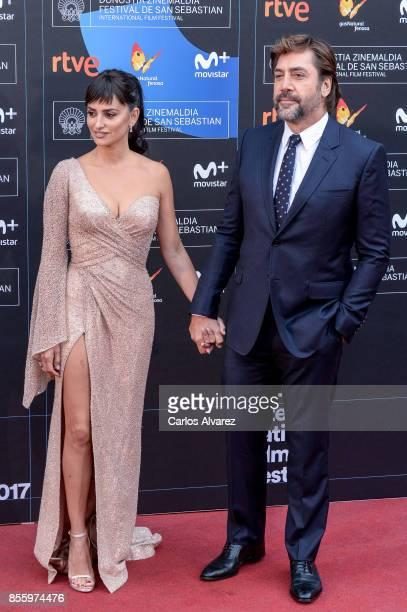 Penelope Cruz and Javier Bardem attend 'Loving Pablo' photocall during 65th San Sebastian Film Festival on September 30 2017 in San Sebastian Spain