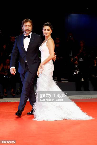 Penelope Cruz and Javier Bardem attend the 'Loving Pablo' premiere during the 74th Venice Film Festival on September 06 2017 in Venice Italy