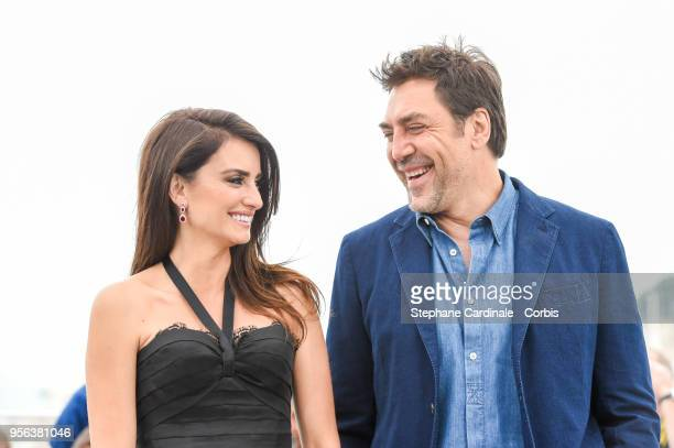 Penelope Cruz and Javier Bardem attend the photocall for Everybody Knows during the 71st annual Cannes Film Festival at Palais des Festivals on May 9...