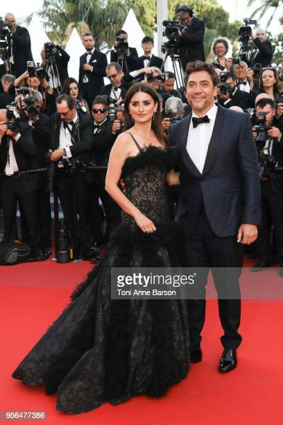 """Penelope Cruz and Javier Bardem attend the screening of """"Everybody Knows """" and the opening gala during the 71st annual Cannes Film Festival at Palais..."""