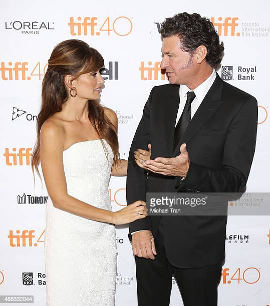 Penelope Cruz and Julio Medem arrive at the 'Ma Ma' premiere during 2015 Toronto International Film Festival held at The Elgin on September 15 2015...