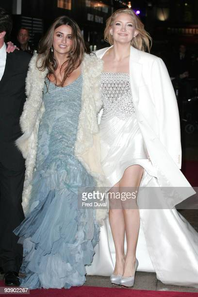 Penelope Cruz and Kate Hudson attends the World Premiere of 'Nine' at Odeon Leicester Square on December 3 2009 in London England