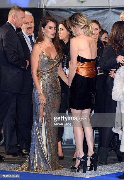 """Penelope Cruz and Kristen Wiig attend a London Fan Screening of the Paramount Pictures film """"Zoolander No. 2"""" at Empire Leicester Square on February..."""