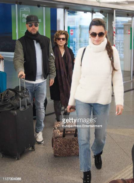 Penelope Cruz and mother Encarna Sanchez are seen on February 03 2019 in Madrid Spain