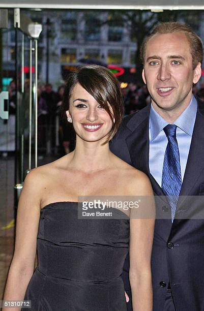 Penelope Cruz and Nicolas Cage attend the UK Premiere of Captain Correlli's Mandolin at The Odeon Leicester Square followed by the party at The In...