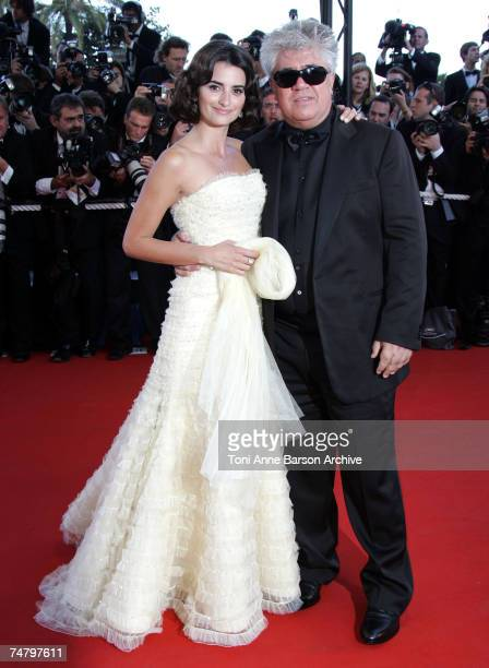 Penelope Cruz and Pedro Almodovar at the Palais Du Festival in Cannes, France.