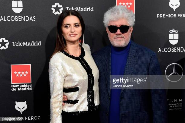 Penelope Cruz and Pedro Almodovar attend Feroz awards 2020 red carpet at Teatro Auditorio Ciudad de Alcobendas on January 16, 2020 in Madrid, Spain.