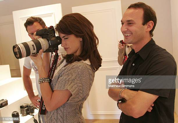 Penelope Cruz and Photographer Jeff Vespa during 2006 Diesel Portrait Studio Presented by Inside Entertainment and Wireimage Day 3 at Portrait Studio...