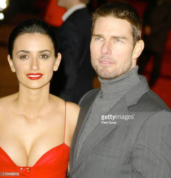Penelope Cruz and Tom Cruise at the UK premiere of The Last Samurai. The movie was screened at the Odeon Leicester Square in central London.