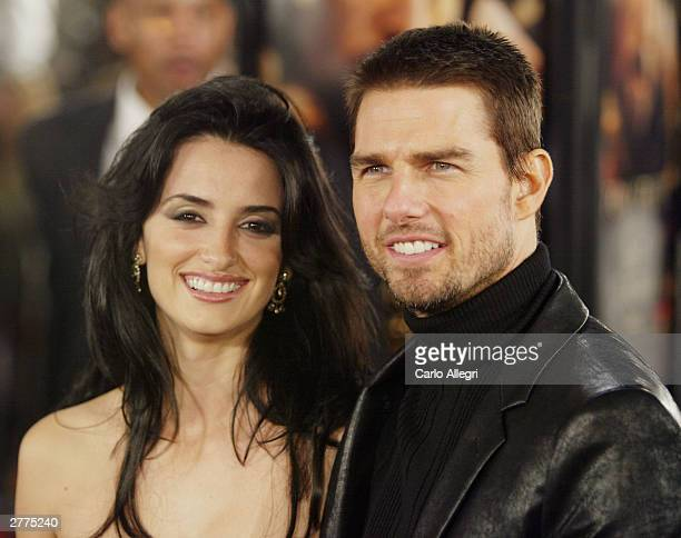 Penelope Cruz and Tom Cruise attend the WB's premiere of 'The Last Samurai' at the Mann's Village Theatre December 1 2003 in Los Angeles California